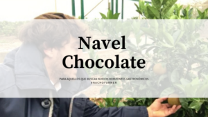 navel chocolate perfecto para postre diferente y saludable